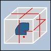 Схема лазера, упаковка Точное выравнивание с помощью горизонтальных и вертикальных множественных лазерных лучей