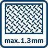 1,3 mm'ye kadar metalde kesme
