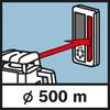 Рабочий диапазон GRL 500 H/HV Рабочий диапазон Ø 500 м с приемником