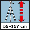 Hauteur de travail 55-157cm Hauteur de travail entre 55 et 157cm