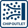 Cleaner working conditions thanks to chip outlet
