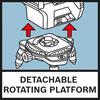 Detach. Rotating Platform Поворотный мини-штатив упрощает точное позиционирование