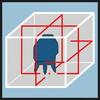 Схема лазера, упаковка Точное выравнивание с помощью горизонтального лазерного луча и двух вертикальных лазерных лучей 360°