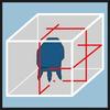 Схема лазера, упаковка Точное выравнивание с помощью одной горизонтальной и двух вертикальных лазерных лучей