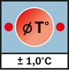 Точность измерения темп. поверх. Погрешность ± 1,0 °C