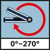 Messbereich Winkel 0°–270° Winkelmessbereich 0°-270°