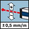 Messgenauigkeit Laser ± 0,5 mm/m Messgenauigkeit ± 0,5 mm/m