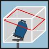 Схема лазера, упаковка Функция наклона горизонтального лазерного луча 360°