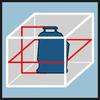 Схема лазера, упаковка Точная работы с помощью вертикального лазерного луча и горизонтального лазерного луча 360°