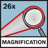 Magnetification 26x Увеличение до 26x