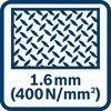 Резание стали (400 Н/мм²) толщиной до 1,6 мм