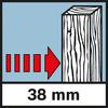 Detection depth Wood Hloubka detekce vnitřní dřevěné konstrukce, max. 38mm