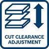 Оптимальная регулировка благодаря настраиваемому зазору между ножами в соответствии с толщиной материала