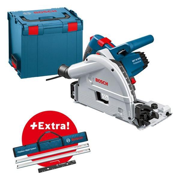 Conjunto profissional: serra de imersão GKT 55 GCE na L-BOXX + 2 x FSN 1600 + 1 x FSN VEL em bolsa FSN