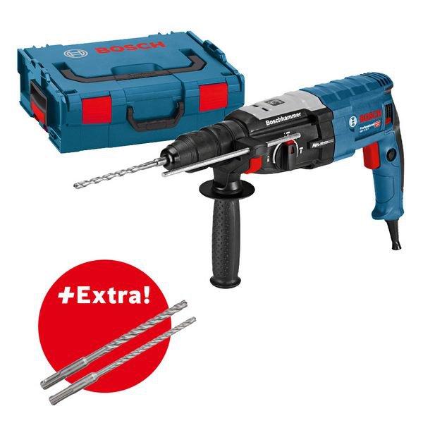 Sett for profesjonelle: borhammer GBH 2-28 F + 10-delers SDS plus-7X hammerborsett i L-BOXX