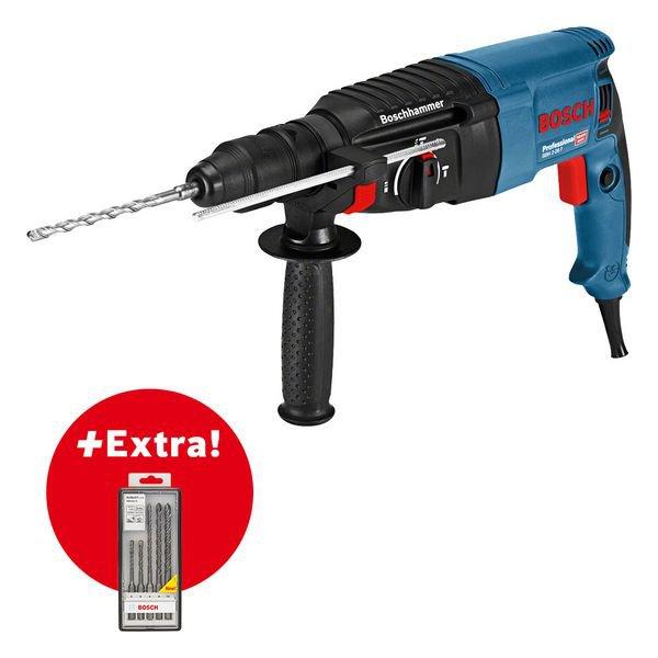 Professional-sæt: Borehammer GBH 2-26 F + SDS plus-5 hammerbit-sæt med 5 dele L-Case
