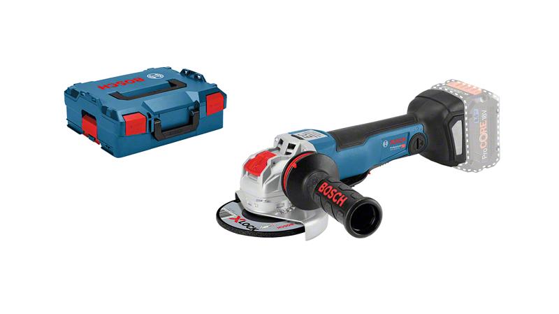 Bleu 06019J7002 2 batteries 5,0 Ah pour accessoires X-Lock, /Ø 125 mm, dans une L-Boxx Bosch Professional 18V System Meuleuse dangle GWX 18 V-8