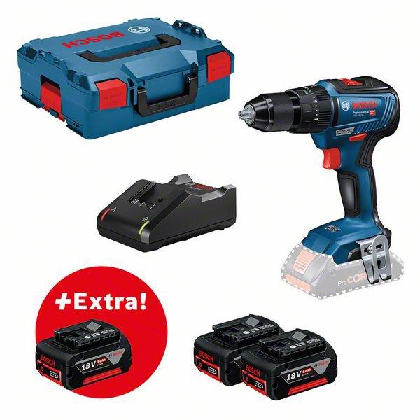 Juego de herramientas: GSB 18V-55 + 3 GBA 18V 5.0Ah + GAL 18V-40