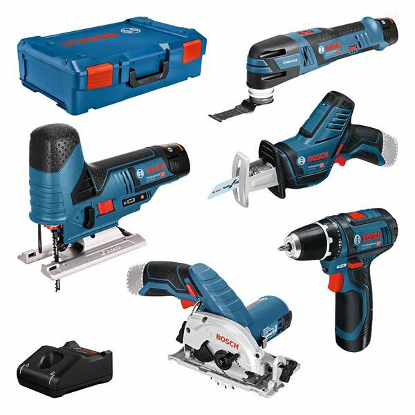 5 machine set 12V: GSR + GST + GOP + GKS + GSA + 3x GBA 3.0Ah + GAL + XL-BOXX