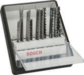 Наборы лобзиковых пильных полотен для профессиональных работ по металлу, Robust Line, 10 шт.