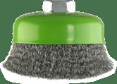 Чашечные проволочные щетки Clean for Inox, витая проволока