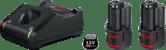 2 аккумулятора GBA 12V 2.0Ah + GAL 12V-40