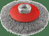 Конусные проволочные щетки Clean for Metal, витая проволока