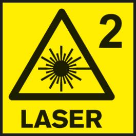 Classe de laser 2 Classe de laser utilizada em diversos instrumentos de medição.