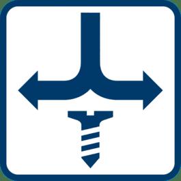 Rechts- / -Linkslauf zum Einfügen und Entfernen von Schrauben
