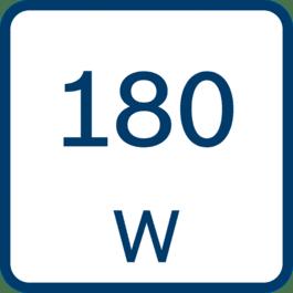 Ονομαστική ισχύς 180 W