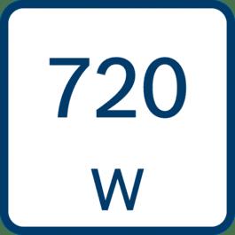 Märkeffekt 720 W
