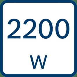 Potencia nominal de entrada 2200 W