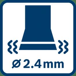 Valoarea vibraţiilor emise Ah ∅ 2,4 mm
