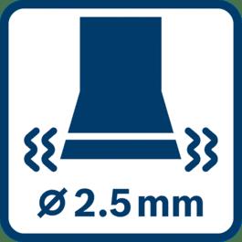 Vibrasjonsemisjon ah ∅ 2,5 mm