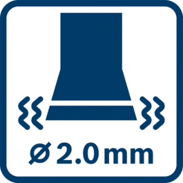 Vibration emission value ah ∅ 2.0 mm