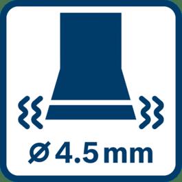 Vibratsiooni emissiooniväärtus ah ∅ 4,5 mm