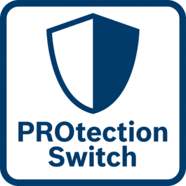 Excellente protection de l'utilisateur L'interrupteur de protection arrête aussitôt l'outil dès qu'il est relâché