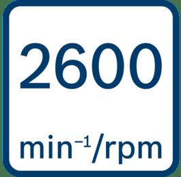 Onbelast toerental 2600 o.p.m.