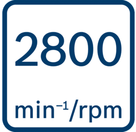 Régime à vide 2 800 tr/min