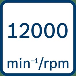 No load speed 12000 min-1/rpm