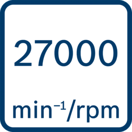 Onbelast toerental 27.000 o.p.m.