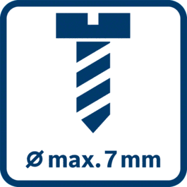 Schrauben-Ø, max. 7 mm