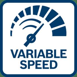 Régulation facile et précise du régime grâce au variateur de vitesse
