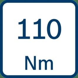 Draaimoment 110 Nm
