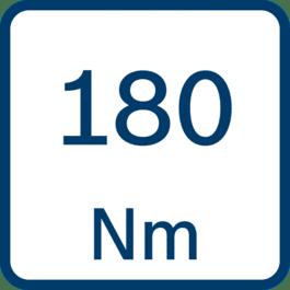 Draaimoment 180 Nm