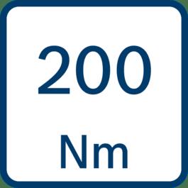 Ροπή στρέψης 200 Nm