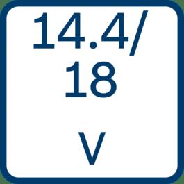 Spænding 14,4/18V