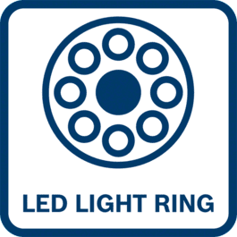 Illuminating of the work area with a super bright LED light ring