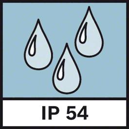 IP Schutz 54 Staub- und Spritzwasserschutz IP54