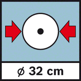 GWM 32 Diameter 32 cm Raddurchmesser 32 cm